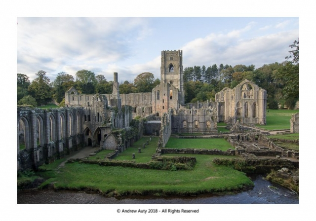Twilight at Fountains Abbey