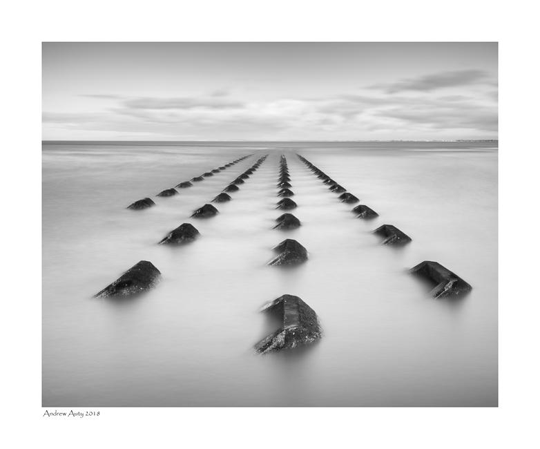 A minimalist, monochrome image from New Brighton.