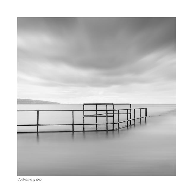 A minimalist, monochrome image from West Kirby.